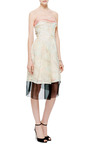 Crystal Embellished Printed Silk Organza Dress by J. MENDEL Now Available on Moda Operandi