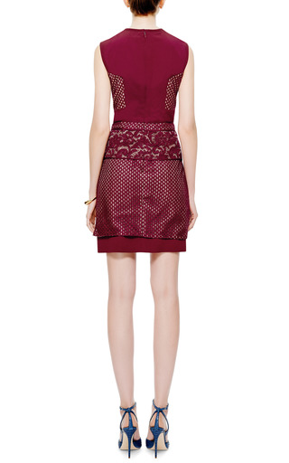 Mixed Lace And Crepe Dress by J. MENDEL Now Available on Moda Operandi
