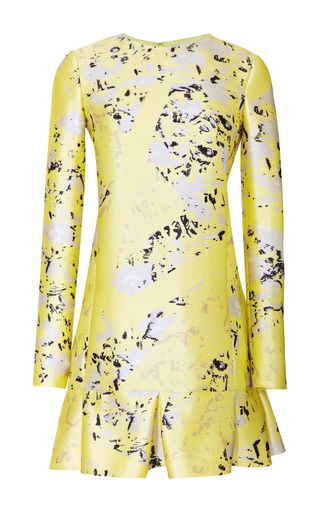 Medium j mendel print printed silk dress