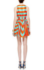 Striped Raffia V Neck Dress by MSGM Now Available on Moda Operandi