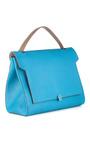 Bathurst Deconstructed Satchel In London Blue Capra by ANYA HINDMARCH Now Available on Moda Operandi