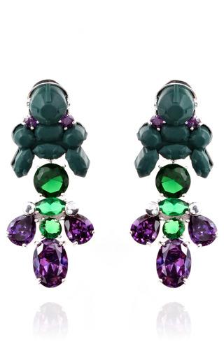 Medium ek thongprasert green auilegia alpina earrings