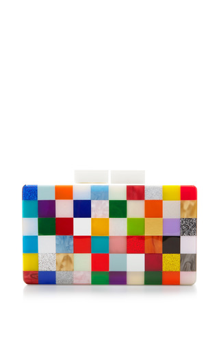 Medium urania gazelli multi pixel plexiglas clutch