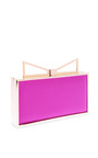 Lady Me Two Tone Silk Clutch by SARA BATTAGLIA Now Available on Moda Operandi