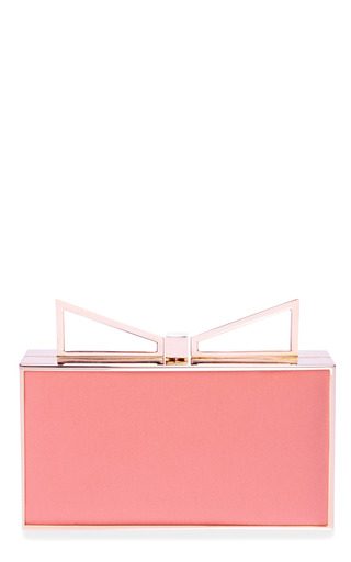 Medium sara battaglia pink lady me two tone silk clutch