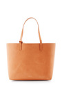 Large Brown Leather Tote With Royal Interior by MANSUR GAVRIEL Now Available on Moda Operandi