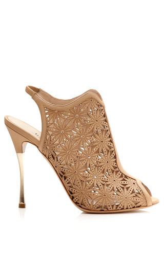 Medium nicholas kirkwood brown beige lasercut platino sandal
