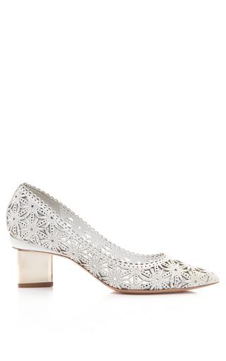 Medium nicholas kirkwood white white lasercut platino block heel