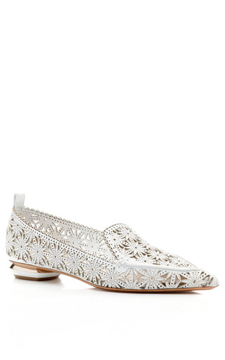 Lasercut Kid Loafer by NICHOLAS KIRKWOOD Now Available on Moda Operandi