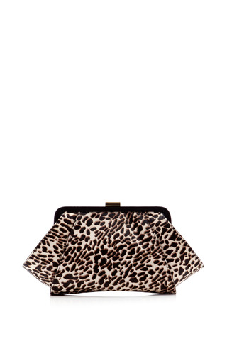 Medium zac posen print posen printed haircalf clutch