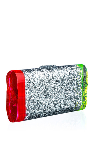 Lara Backlit Confetti Acrylic Clutch by EDIE PARKER Now Available on Moda Operandi