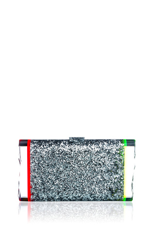 Medium edie parker multi lara backlit confetti acrylic clutch
