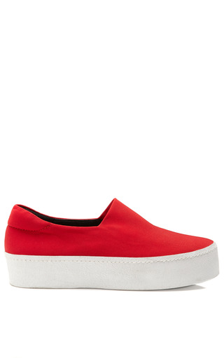 Medium opening ceremony red slip on platform sneaker