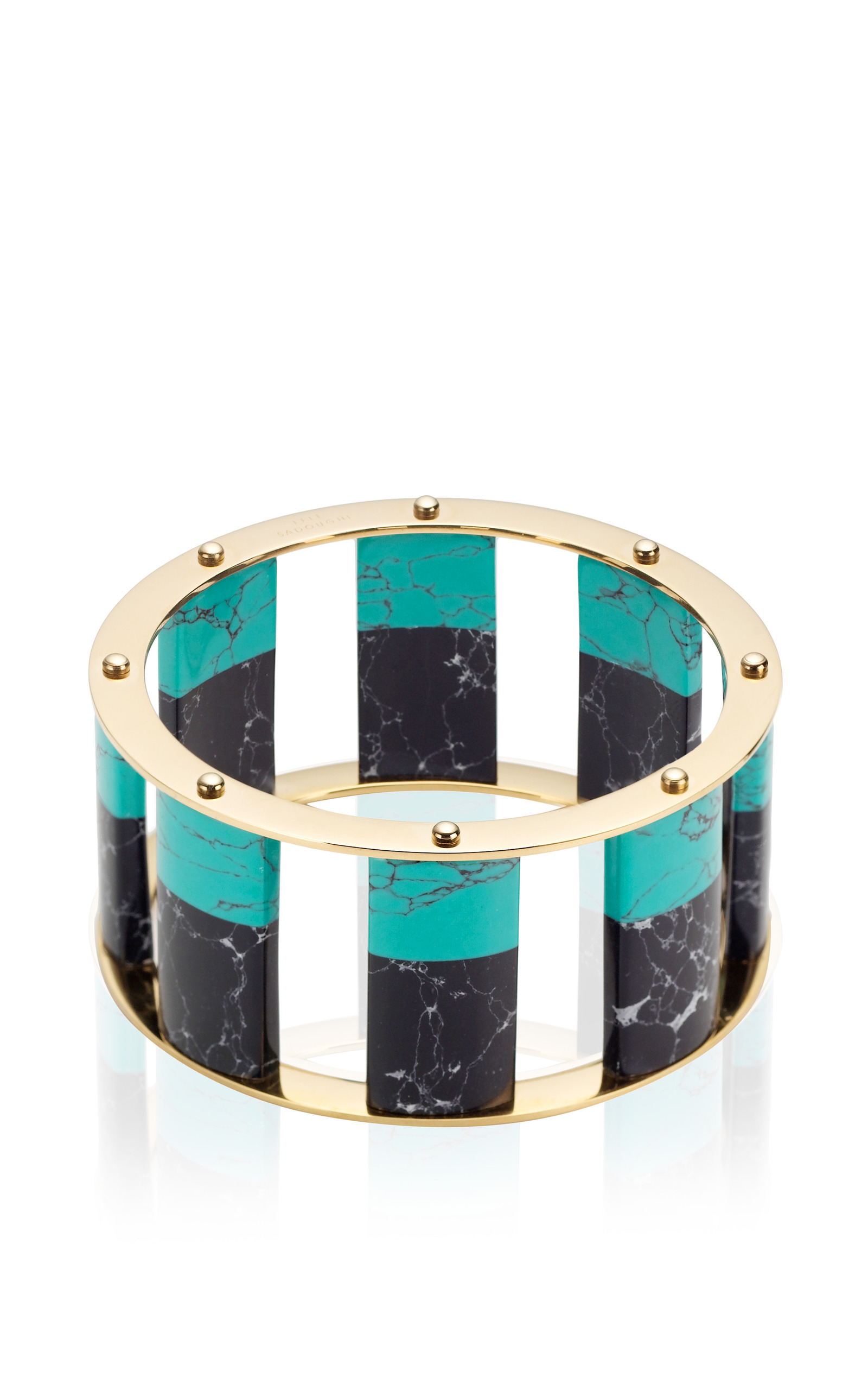 Lele Sadoughi Tall Stackable Bangle, Dark Blue