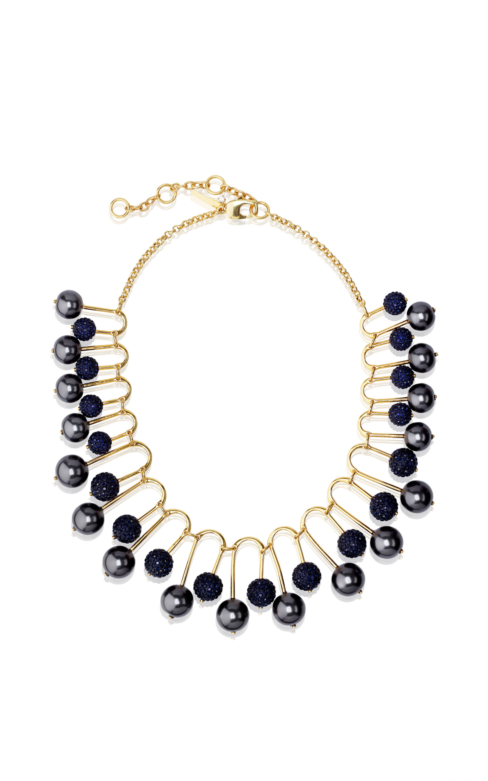 Lele Sadoughi Howlite Beaded Fan Necklace bhkvb