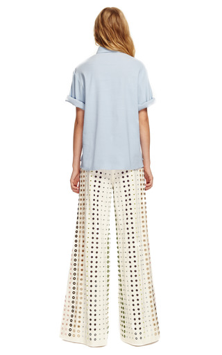Casual Cotton Faille Eyelet Mall Pants by ROSIE ASSOULIN Now Available on Moda Operandi