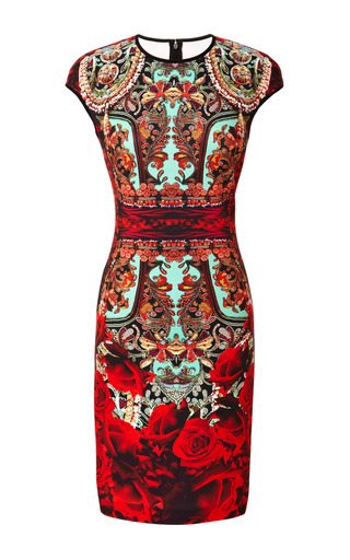 Medium clover canyon print rose matador dress