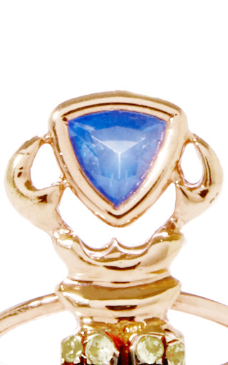 Khepri 18 K Gold And Sapphire Ring by DANIELA VILLEGAS Now Available on Moda Operandi