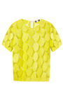 Macrame Circles T Shirt by MSGM Now Available on Moda Operandi