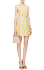 Rose Jacquard Trapeze Dress by MSGM Now Available on Moda Operandi