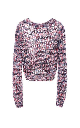 Medium msgm multi open weave knit sweater