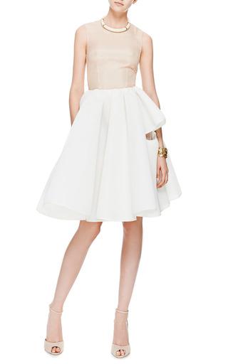 Nude Tulle And Ivory Neoprene Dress by SIMONE ROCHA Now Available on Moda Operandi