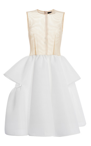 Medium simone rocha white nude tulle and ivory neoprene dress