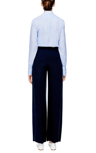Cotton Long Sleeve Blouse With Front Tie by VALENTINO Now Available on Moda Operandi