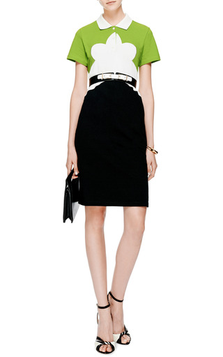 Color Block Pique Shirtdress by CARVEN Now Available on Moda Operandi