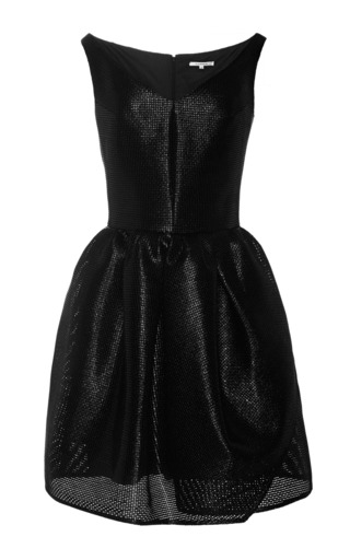 Medium carven black netted cocktail dress