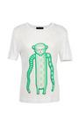 Green Monkey Melange Jersey Tee by OSTWALD HELGASON Now Available on Moda Operandi