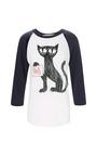 Felix Baseball White/Navy T Shirt by CLEMENTS RIBEIRO Now Available on Moda Operandi