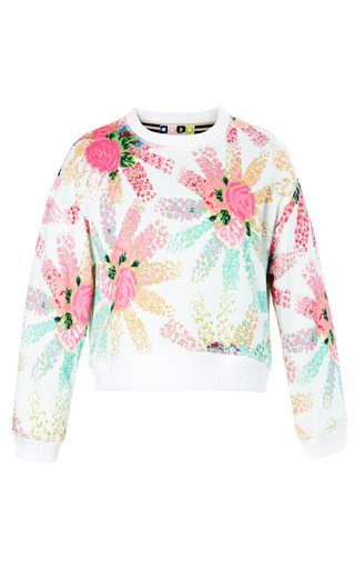 Medium msgm multi cropped floral explosion sweatshirt