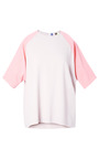 Viscose Crepe Bicolor T Shirt by MSGM Now Available on Moda Operandi