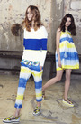 Striped Sporting Sweater With Tie Dye Mesh Back by MSGM Now Available on Moda Operandi