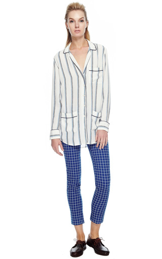 Equipment Experimental Stripe Printed Gavin Shirt by EQUIPMENT Now Available on Moda Operandi