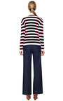 Avorio Stripe Cashmere Pullover by VALENTINO Now Available on Moda Operandi