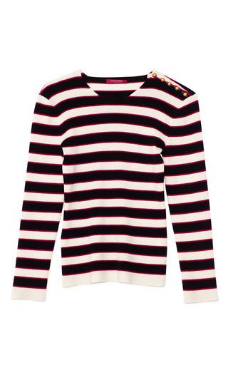 Medium valentino stripe avorio stripe cashmere pullover
