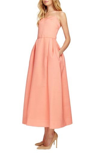 Tea Length Spaghetti Strap Dress by ROSIE ASSOULIN Now Available on Moda Operandi