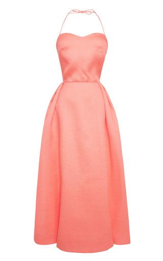 Medium rosie assoulin pink tea length spaghetti strap dress