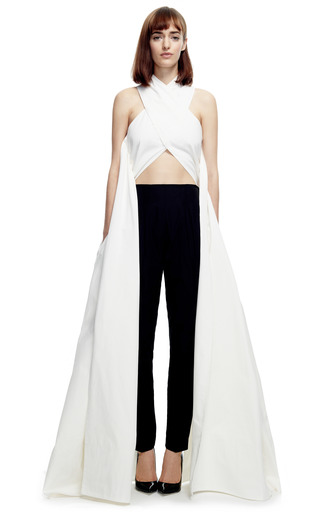 Light Cotton Poplin X Top by ROSIE ASSOULIN Now Available on Moda Operandi