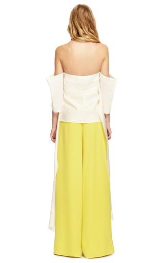 Strapless Silk Twill Shawl Top by ROSIE ASSOULIN Now Available on Moda Operandi