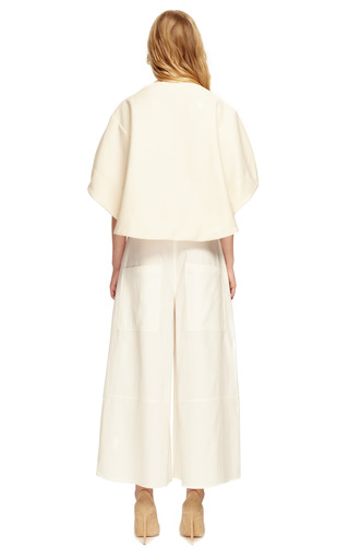 Heavy Cotton Pique Boatneck Top by ROSIE ASSOULIN Now Available on Moda Operandi
