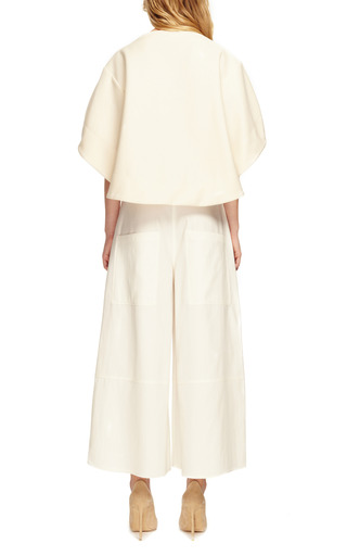 White Silk Twill Rave Culottes by ROSIE ASSOULIN Now Available on Moda Operandi