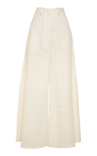 Medium rosie assoulin white white silk twill rave culottes