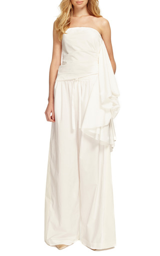 Fine Cotton Combo Drawstring Pants by ROSIE ASSOULIN Now Available on Moda Operandi
