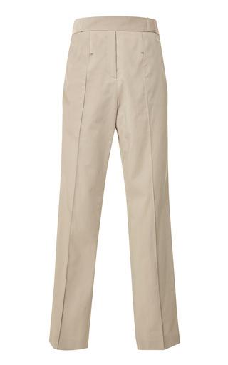 Medium rosie assoulin brown khaki cotton twill wrap loop trousers
