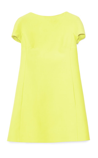 Medium valentino yellow citron crepe couture dress 2