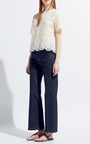 Avorio Heavy Lace Top by VALENTINO Now Available on Moda Operandi