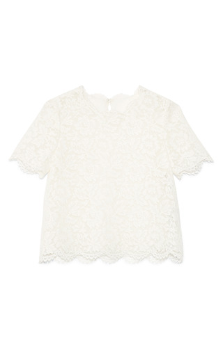 Medium valentino avorio heavy lace top 2